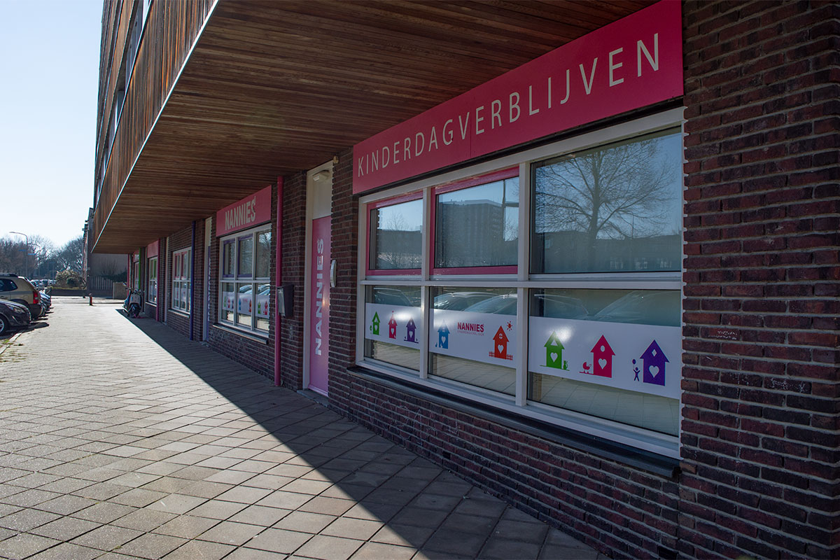 Voorkant van de kinderopvang locatie van Nannies Kinderdagverblijven in Nijmegen Grootstal